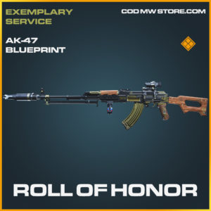 Roll Of Honor AK-47 skin legendary blueprint call of duty modern warfare warzone item