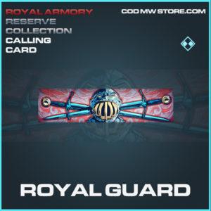 Royal Guard calling card rare call of duty modern warfare warzone item