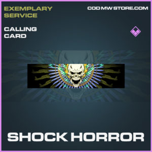 Shock Horror calling card epic call of duty modern warfare warzone item