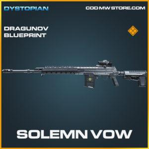 Solemn Vow Dragunov Skin legendary blueprint call of duty modern warfare warzone item