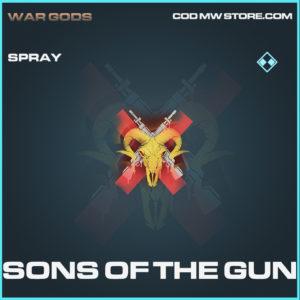 Sons of the Gun spray rare call of duty modern warfare warzone item