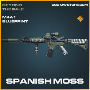 Spanish Moss M4A1 skin legendary blueprint call of duty modern warfare warzone item