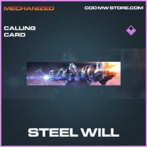 Steel Will Calling card Epic call of duty modern warfare warzone item