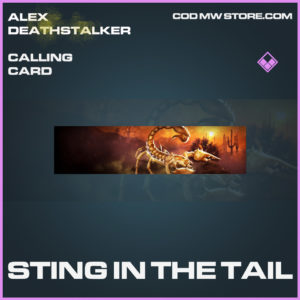 Sting in the tail calling card epic call of duty modern warfare warzone item