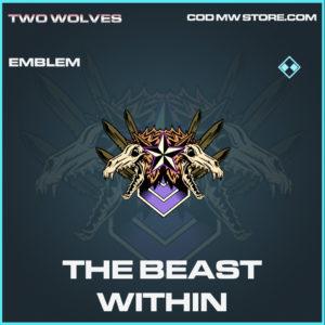 The Beast Within emblem rare call of duty modern warfare warzone item