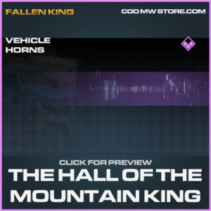 The Hall of the mnountain king vehicle horns epic call of duty modern warfare warzone item