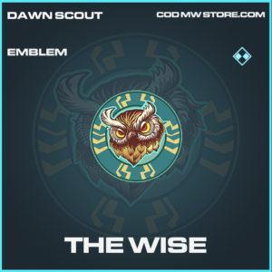 The Wise emblem rare call of duty modern warfare warzone item