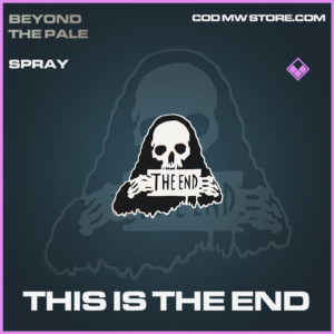 This is the end spray epic call of duty modern warfare warzone item