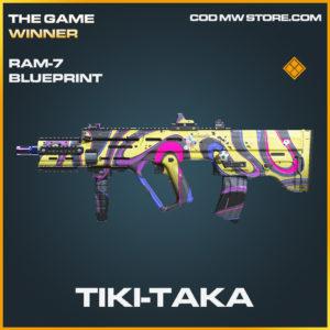 Tiki-Taka RAM-7 skin legendary blueprint call of duty modern warfare warzone item