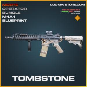Tombstone M4A1 skin legendary blueprint call of duty modern warfare warzone item