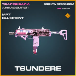 Tsundere MP7 skin legendary blueprint call of duty modern warfare warzone item
