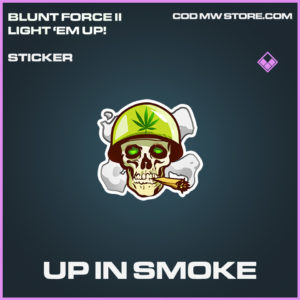 Up In Smoke sticker epic call of duty modern warfare warzone item