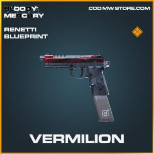 Vermilion Renetti skin legendary blueprint call of duty modern warfare warzone item
