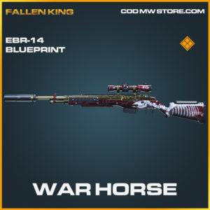 War Horse EBR-14 skin legendary blueprint call of duty modern warfare warzone item