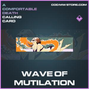 Wave of Mutilation calling card epic call of duty modern warfare warzone item
