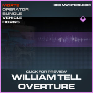 William Tell OVerture Vehicle Horns Epic call of duty modern warfare warzone item