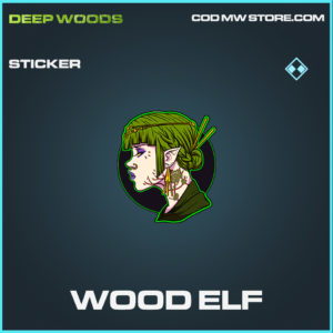 Wood Elf sticker rare call of duty modern warfare warzone item