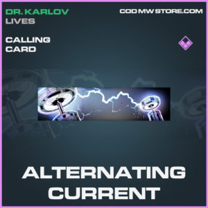 Alternating Current calling card call of duty modern warfare warzone item