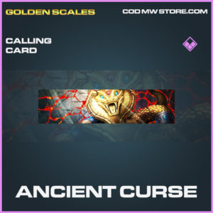 Ancient Curse calling card epic call of duty modern warfare warzone item