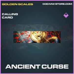 Ancient Curse calling card epic call of duty modern warfare warzone item