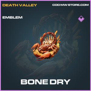 Bone Dry emblem epic call of duty modern warfare warzone item
