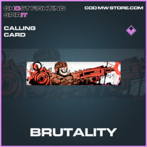 Brutality calling card epic call of duty modern warfare warzone item