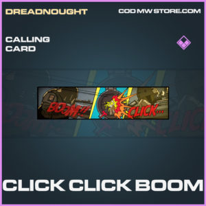Click Click Boom calling card epic call of duty modern warfare warzone item