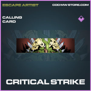 Critical Strike calling card epic call of duty modern warfare warzone item