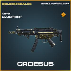 Croesus MP5 skin legendary blueprint call of duty modern warfare warzone item