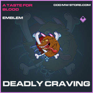 Deadly Craving emblem epic call of duty modern warfare warzone item