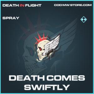 Death Comes Swiftly spray rare call of duty modern warfare warzone item