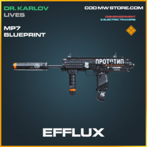 Efflux Mp7 skin legnedary blueprint call of duty modern warfare warzone item