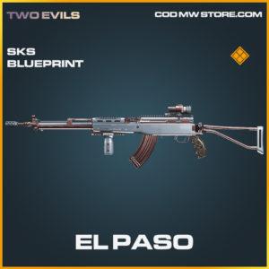 El Paso SKS skin legendary blueprint call of duty modern warfare warzone item