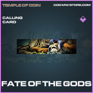 Fate of the gods calling card call of duty modern warfare warzone item