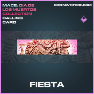 Fiesta calling card call of duty modern warfare warzone item