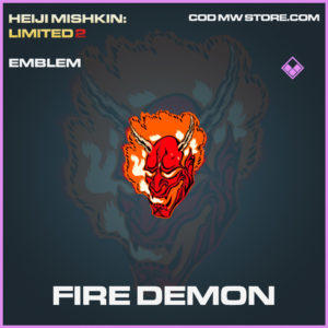 Fire Demon emblem call of duty modern warfare warzone item