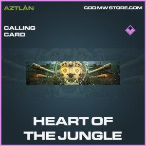 Heart of the jungle calling card call of duty modern warfare warzone item
