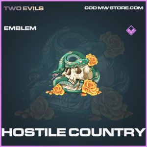 Hostile Country emblem epic call of duty modern warfare warzone item
