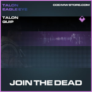 Join the dead talon quip epic call of duty modern warfare warzone item
