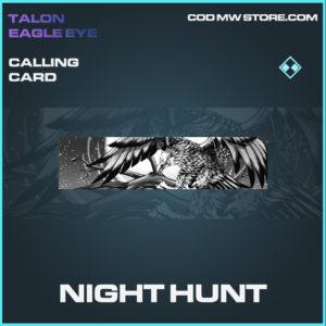 Night Hunt calling card rare call of duty modern warfare warzone item