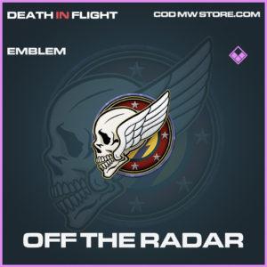 Off The Radar emblem epic call of duty modern warfare warzone item