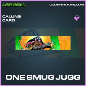 One Smug Jugg calling card epic call of duty modern warfare warzone item