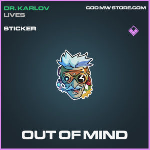 Out of mind sticker call of duty modern warfare warzone item