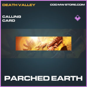 Parched Earth calling card epic call of duty modern warfare warzone item