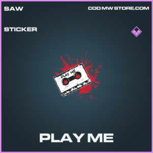 Play Me sticker epic call of duty modern warfare warzone item