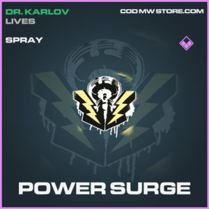 Power Surge spray call of duty modern warfare warzone item
