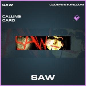 Saw calling card epic call of duty modern warfare warzone item