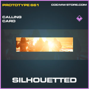 Silhouetted calling card epic call of duty modern warfare warzone