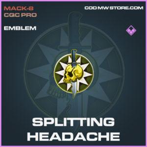 Splitting Headache emblem epic call of duty modern warfare warzone item