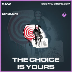The Choice is Yours emblem epic call of duty modern warfare warzone item